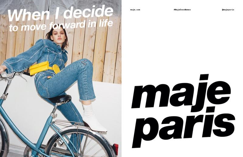 Mag Cysewska fronts Maje spring-summer 2020 campaign