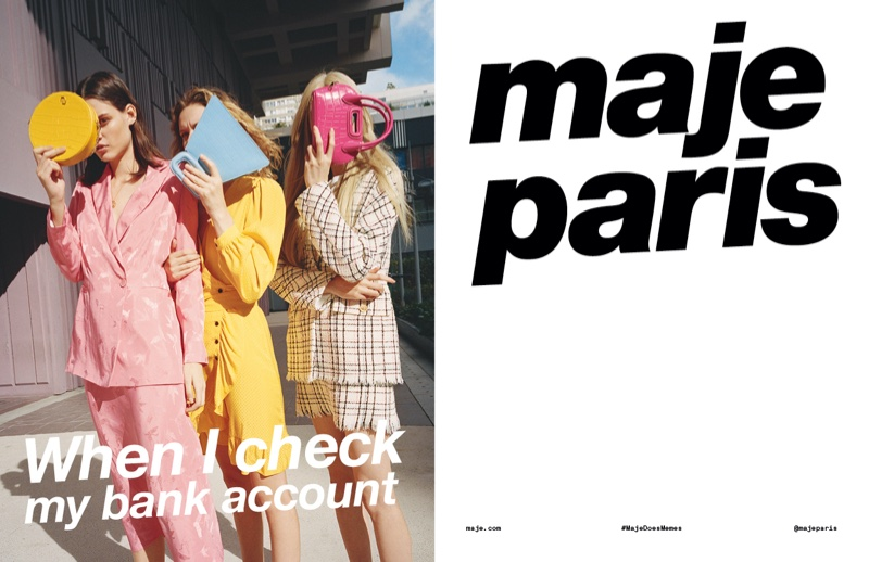 An image from Maje's spring 2020 advertising campaign