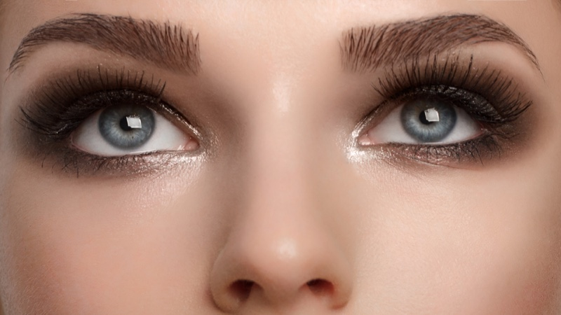 Makeup Eyeshadow Eyebrows Long Eyelashes
