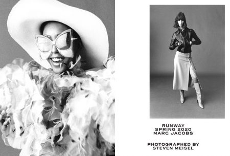 Jessica Fennix and Sasha Knysh appear in Marc Jacobs spring-summer 2020 campaign