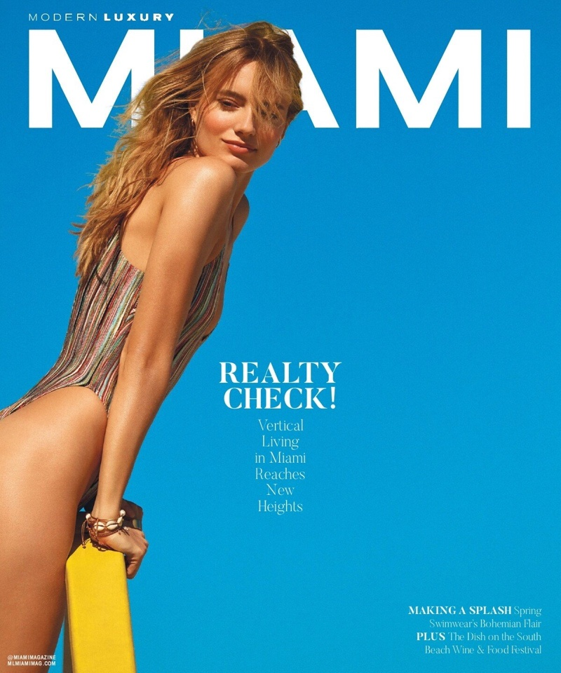 Maya Stepper Poses in Sunny Styles for Miami Magazine