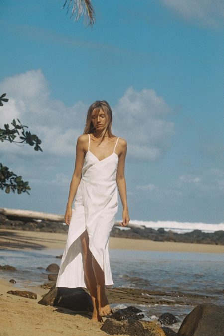Maya Stepper Hits the Beach in Sir the Label's Holiday Line