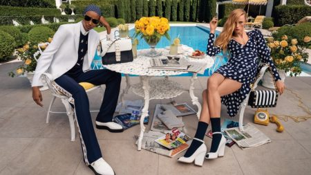 Ugbad Abdi and Rianne Van Rompaey star in Michael Kors spring-summer 2020 campaign