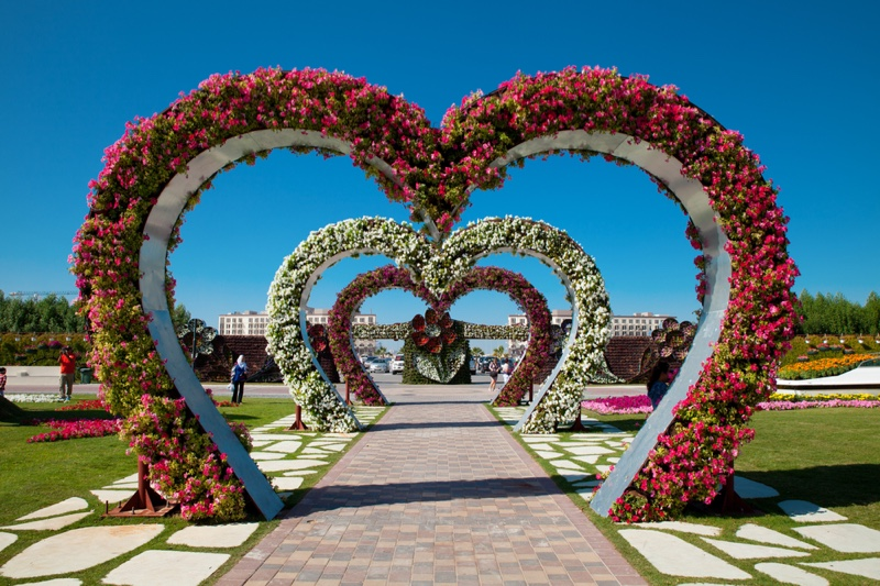 Alley of Hearts from Dubai Miracle Garden
