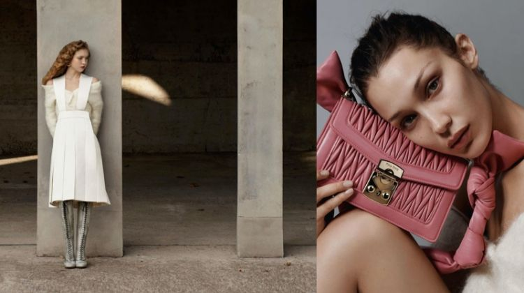 Bell Hadid and Lila Moss star in Miu Miu spring-summer 2020 campaign