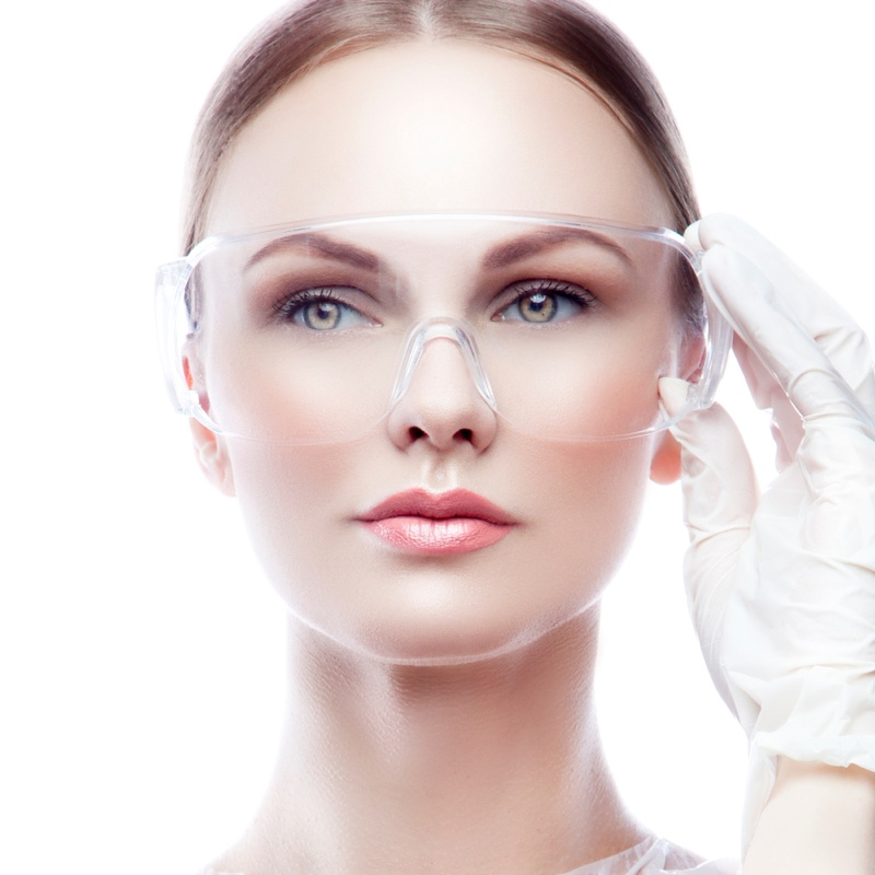 Model Beauty Glasses Surgical Concept Gloves