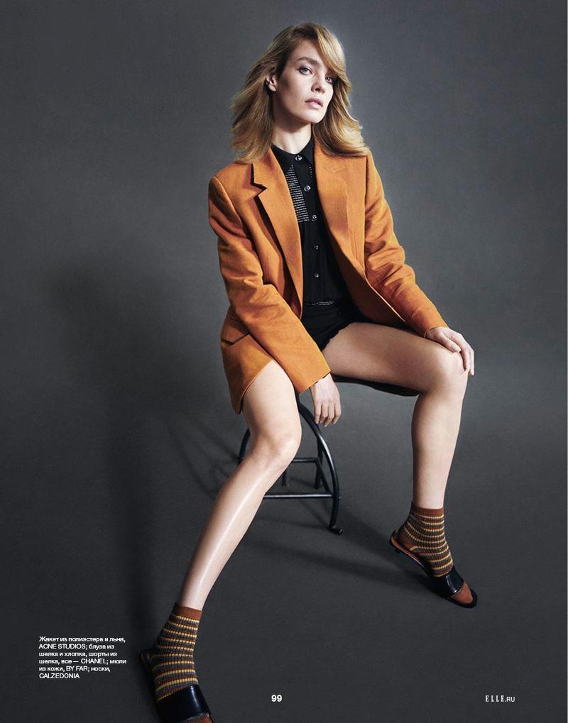Natalia Vodianova Poses in Chic Fashions for ELLE Russia