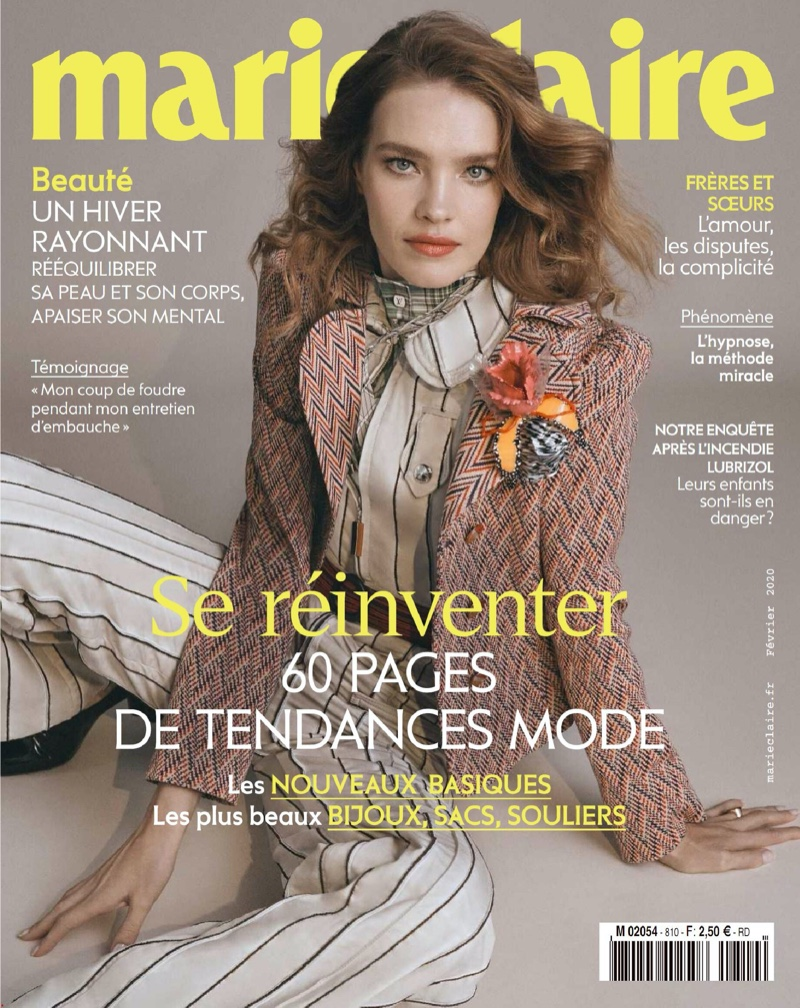 Natalia Vodianova Charms for the Pages of Marie Claire France