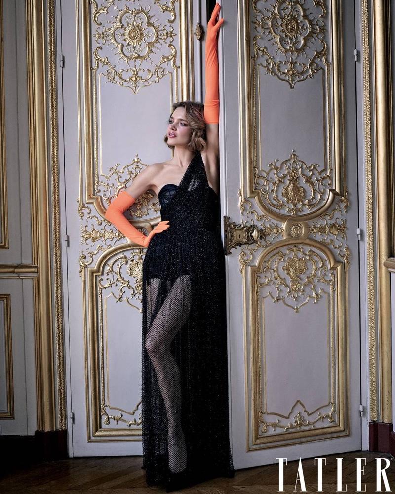 Natalia Vodianova Poses in Dior Haute Couture for Tatler