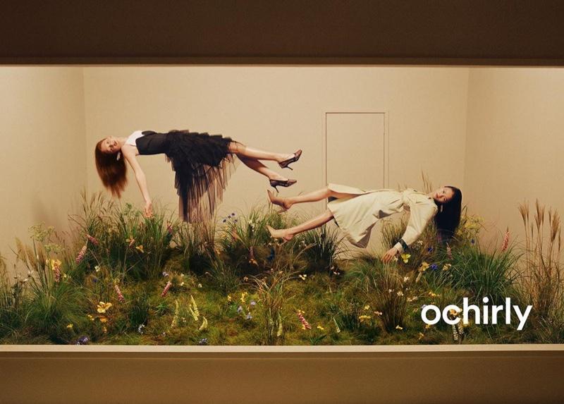 Sara Grace Wallerstedt levitate in Ochirly spring-summer 2020 campaign