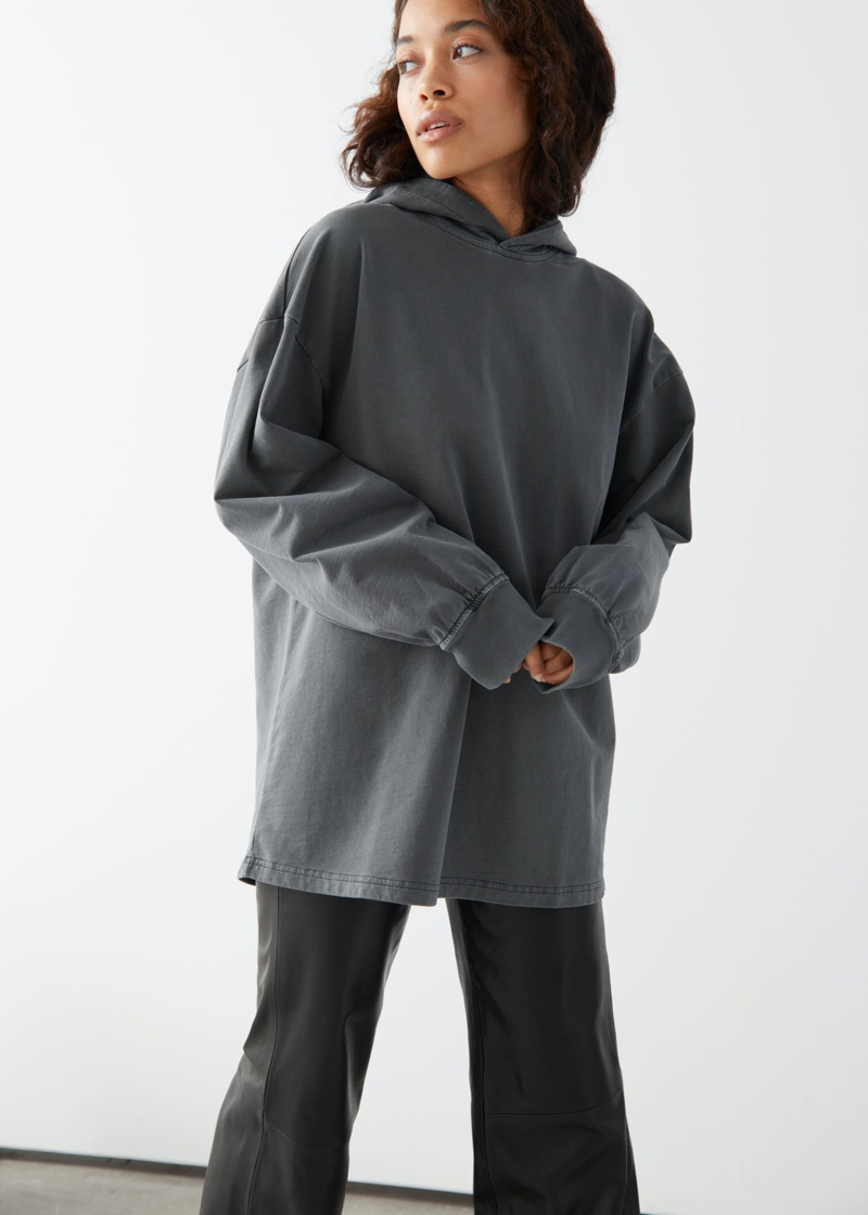 & Other Stories Oversized Organic Cotton Hoodie $69