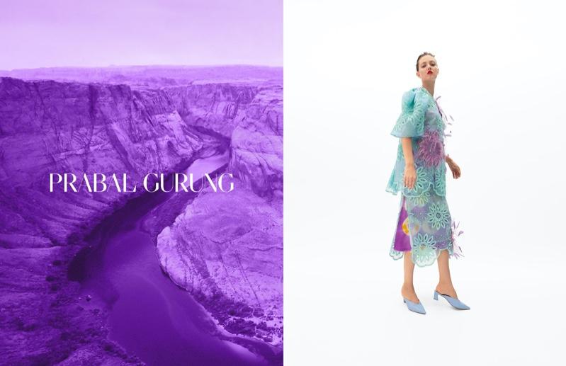 Lindsey Wixson fronts Prabal Gurung spring-summer 2020 campaign
