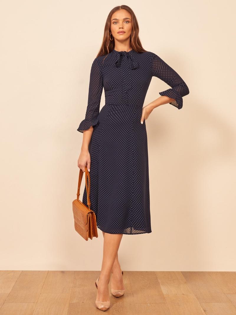 Reformation Castel Dress in Button $248