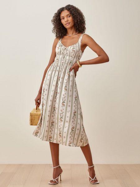 Reformation Colleen Dress in Heath $278