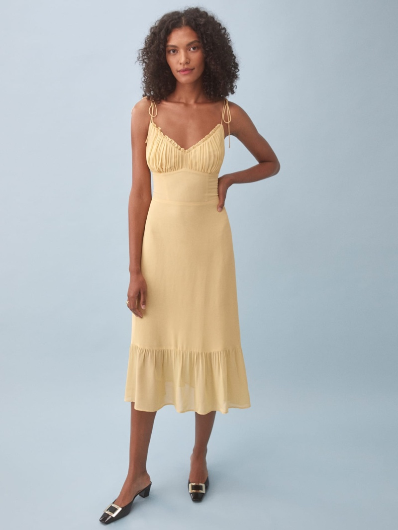 Reformation Embry Dress in Sunshine $248