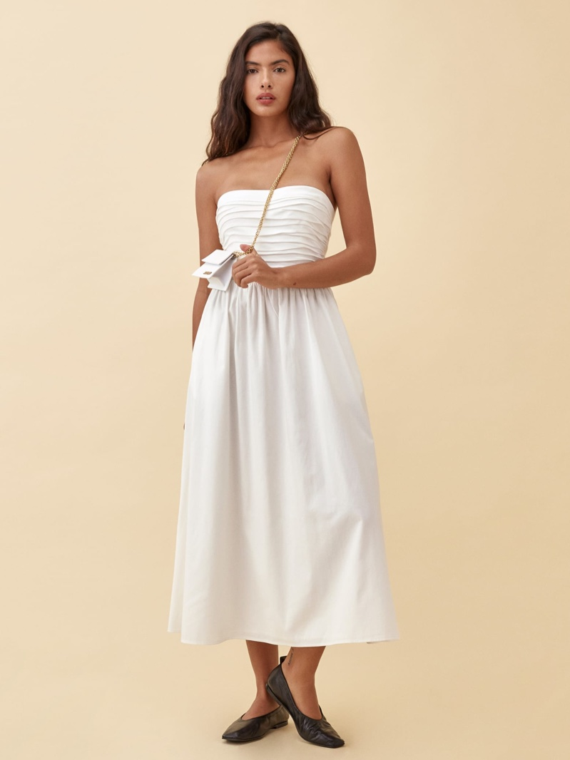Reformation Lissa Dress in White $278