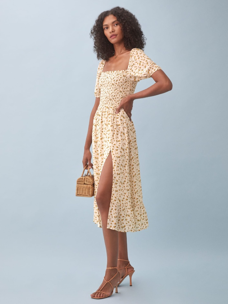 Reformation Meadow Dress in Blanche $248