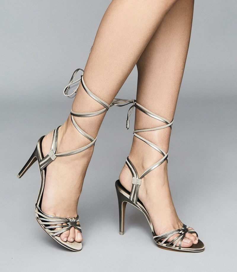 Reiss Cassidy Strappy High Heeled Sandals $330