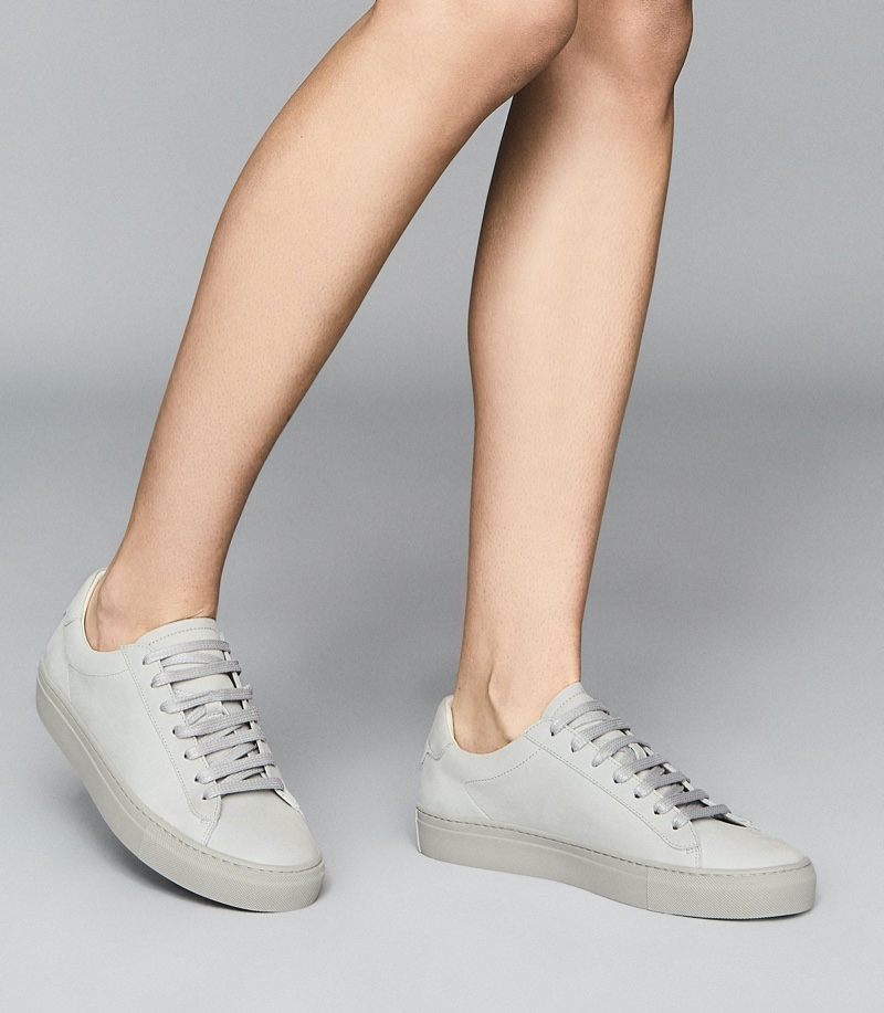 Reiss Finley Leather Trainers $230