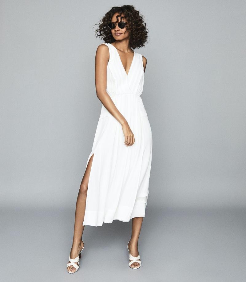 Reiss Marcella Split Front Beach Dress $295