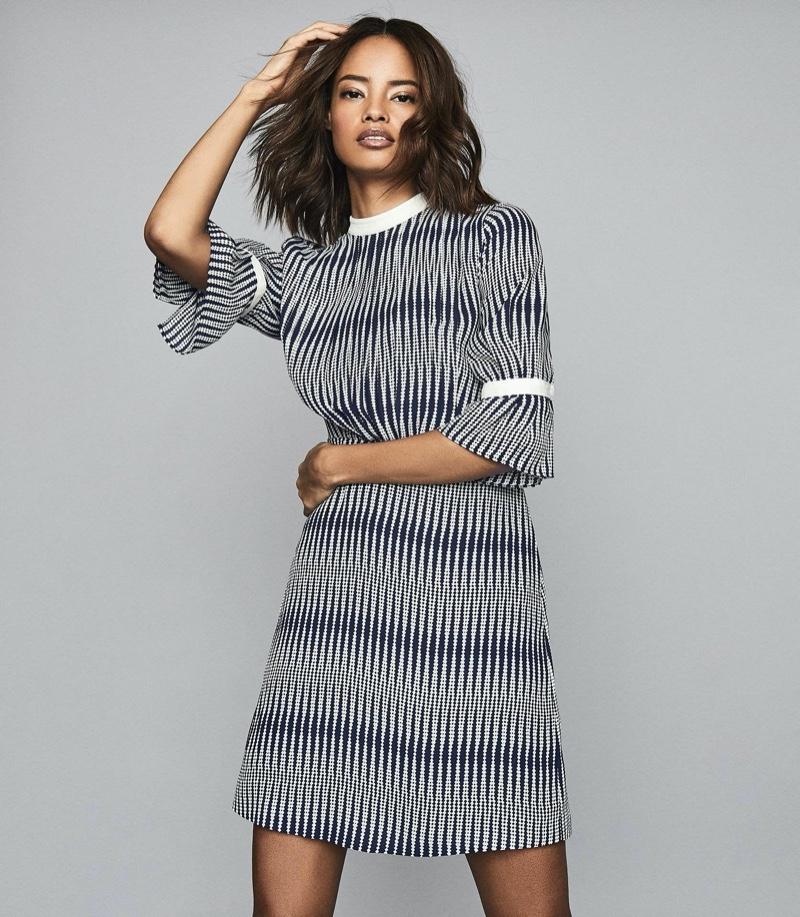 Reiss Nika Zig-Zag Printed Dress $315