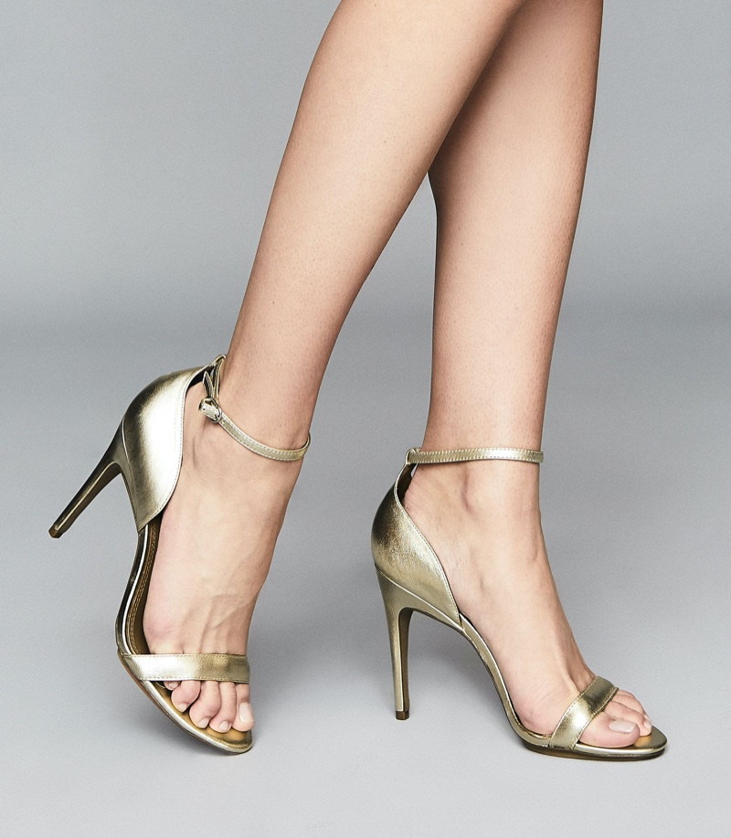 Reiss Paula Leather Strappy Sandals $240