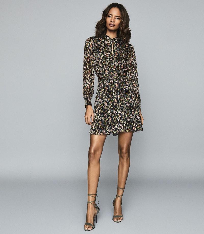Reiss Phillippa Silk Blend Burnout Mini Dress $465