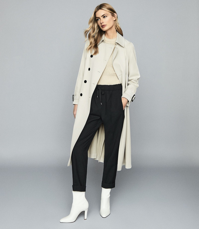 Reiss Pixie Pleated Detailed Trench Coat $725