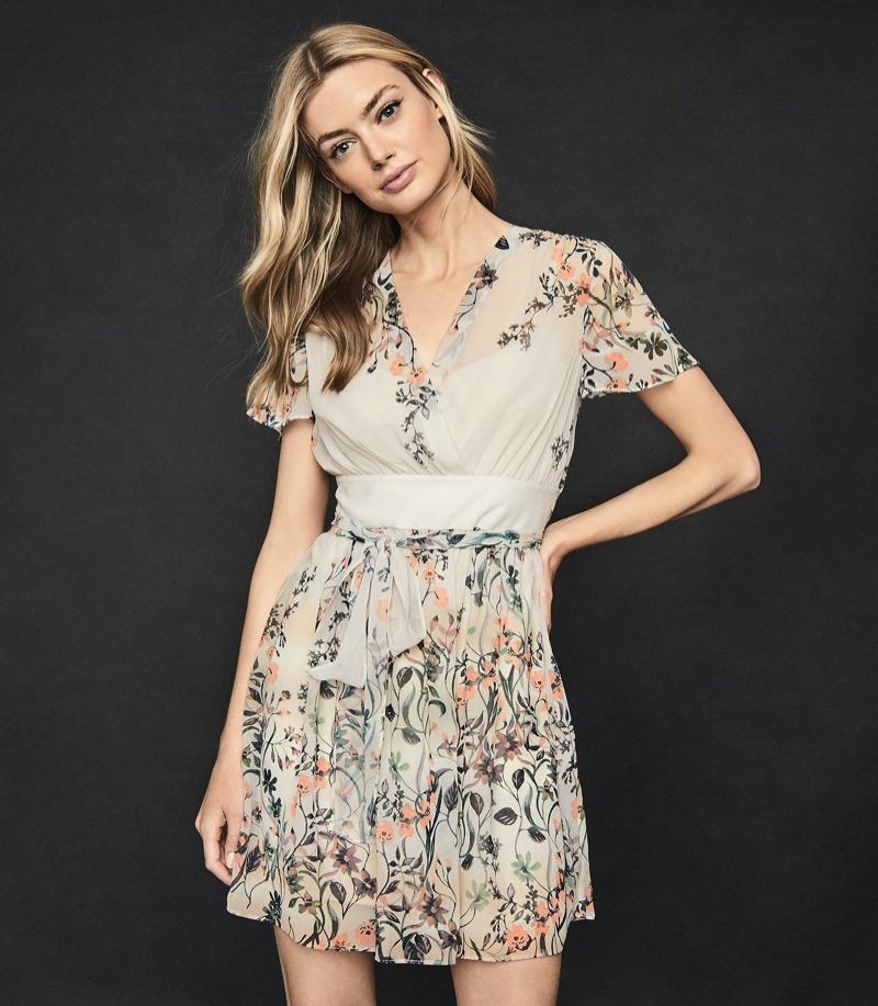 Reiss Sadie Floral Printed Mini Dress $320