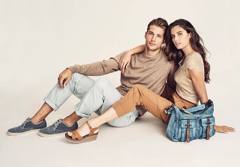 Ben Bowers and Sara Sampaio appear in XTI Shoes spring-summer 2020 campaign