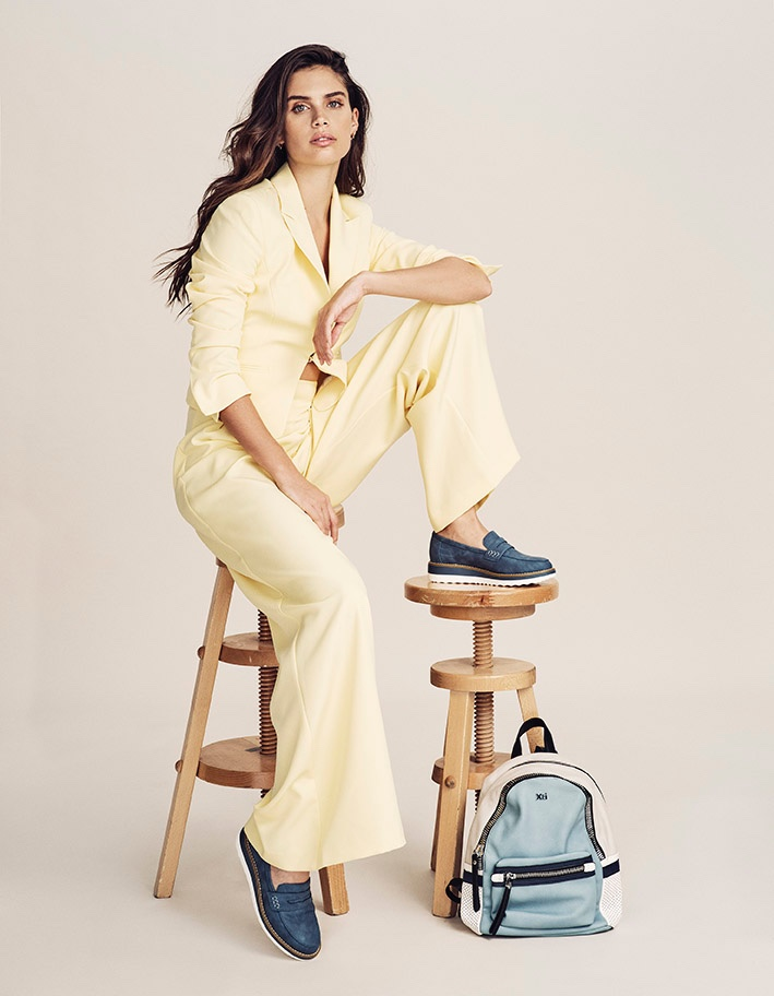 Striking a pose, Sara Sampaio appears in XTI Shoes spring-summer 2020 campaign