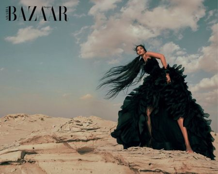 Shanina Shaik Is A Vision in Dreamy Looks for Harper's Bazaar Arabia