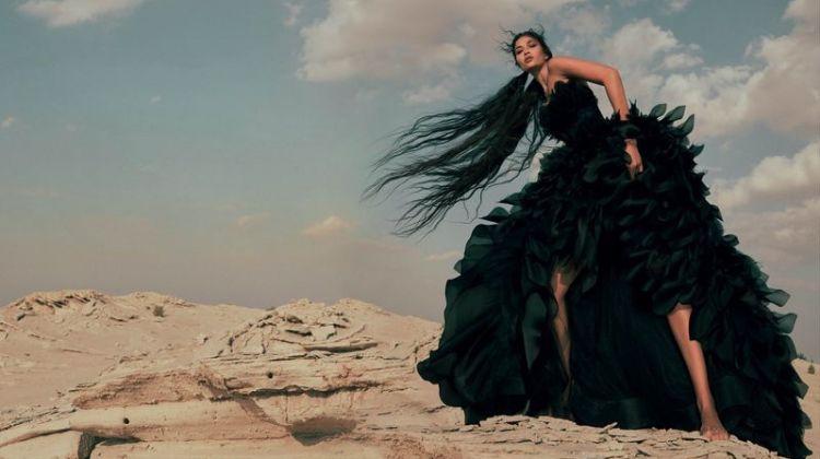 Shanina Shaik Is A Vision in Dreamy Looks for Harper's Bazaar Arabia