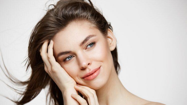 Smiling Attractive Woman Natural Makeup Beauty