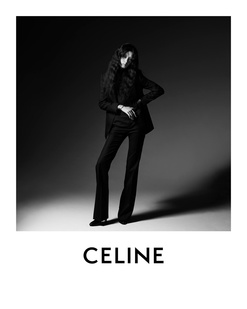 So Young Kang poses for Celine photo session by Hedi Slimane