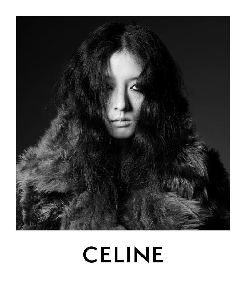Korean model So Young Kang wears Celine designs