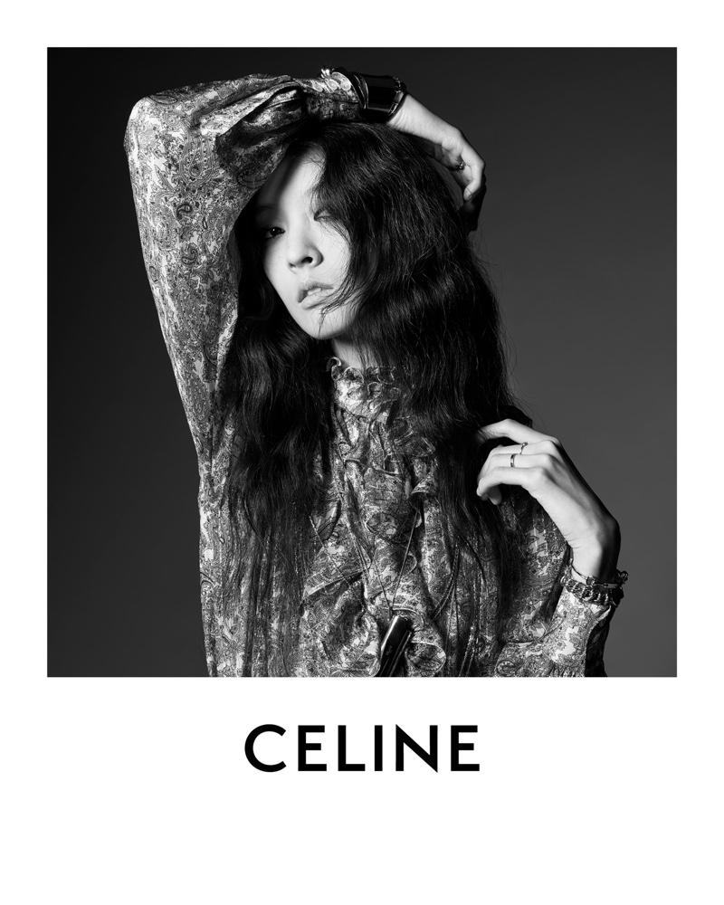 So Young Kang models Celine dress