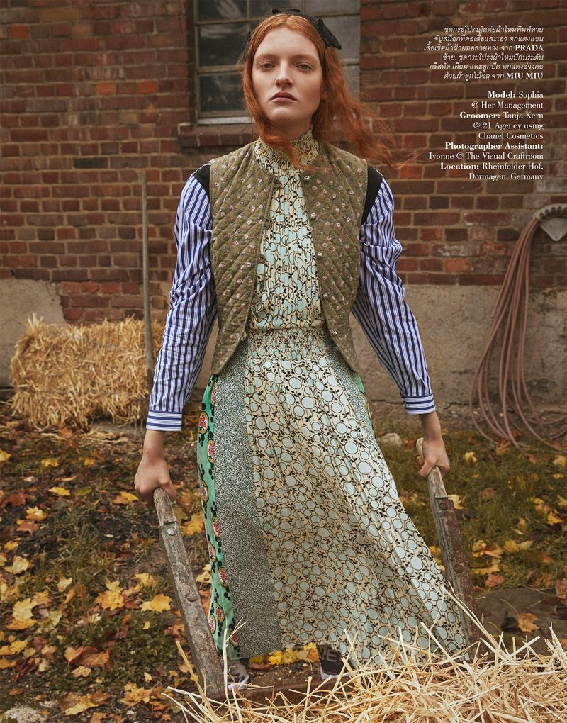 Sophia Friesen Takes On the Simple Life for ELLE Thailand
