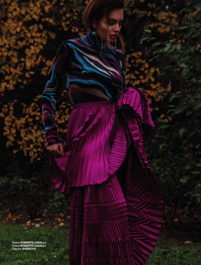 Thylane Blondeau Takes On Vibrant Fashions for Numero Russia