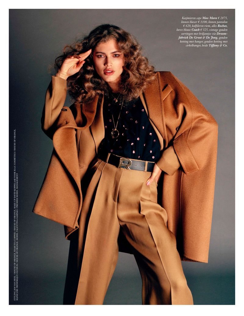 Valentina Sampaio Channels Retro Style for Vogue Netherlands