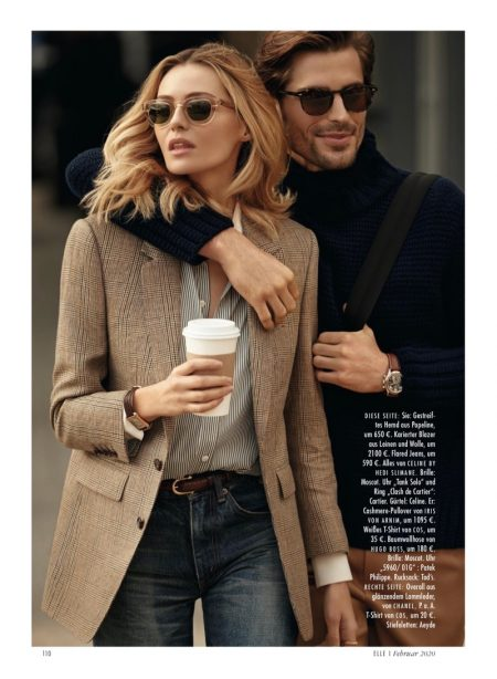 Valentina Zelyaeva Models Chic Street Styles for ELLE Germany