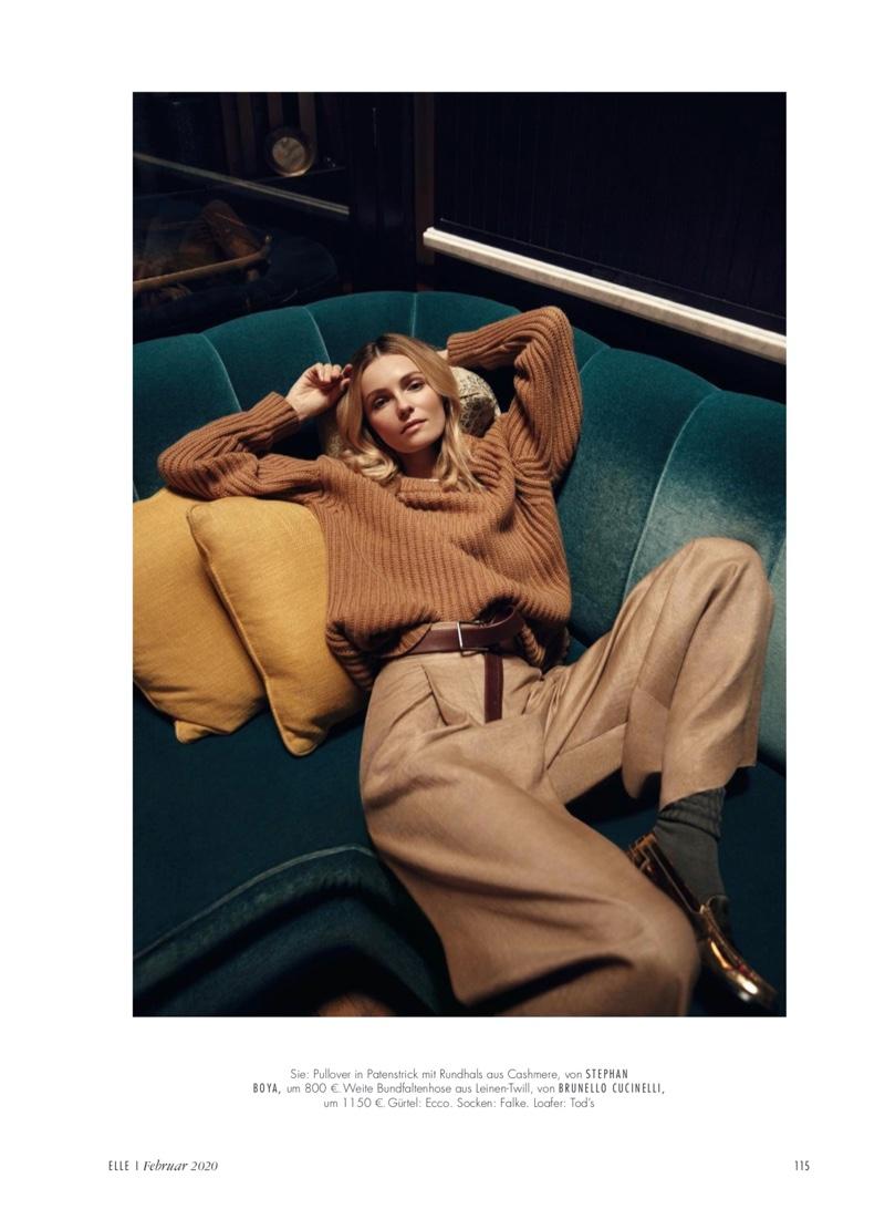Valentina Zelyaeva Models Chic Street Styles for ELLE Germany