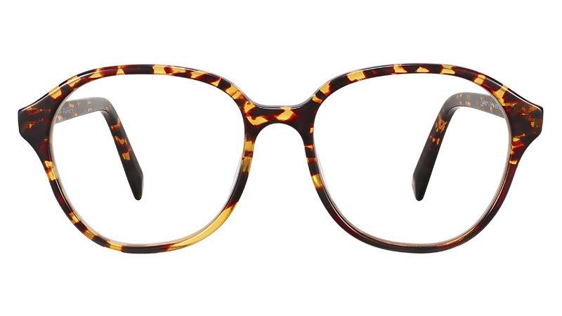 Warby Parker Carrington Glasses in Saffron Tortoise Fade $95