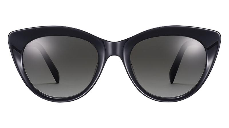 Warby Parker Leta Sunglasses in Jet Black $95
