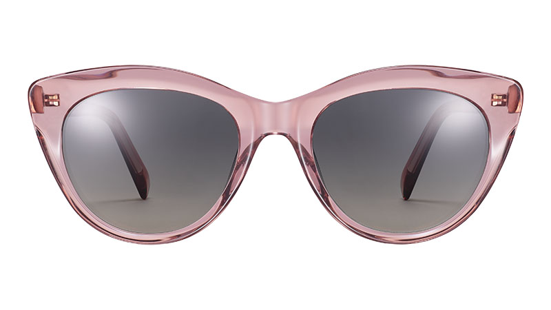 Warby Parker Leta Sunglasses in Layered Desert Rose Crystal $95