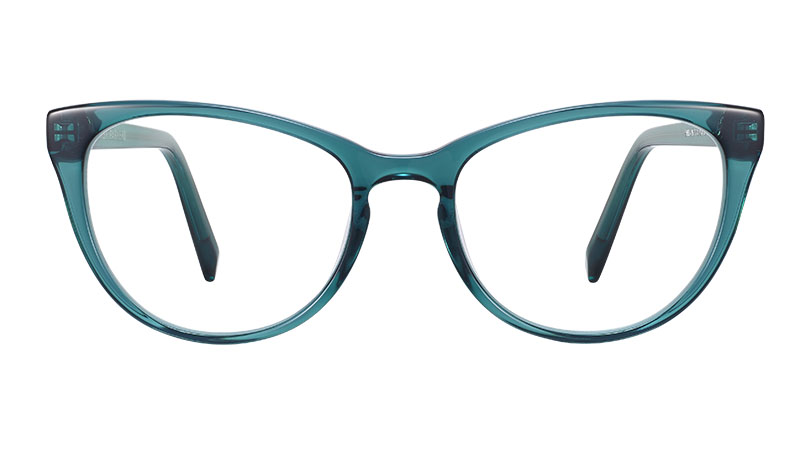 Warby Parker Shea Glasses in Peacock Green $95