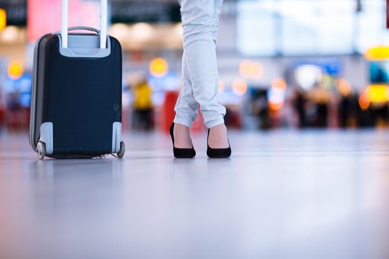 Woman Heels Luggage Suitcase