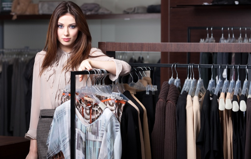 Woman Posing Boutique Clothing