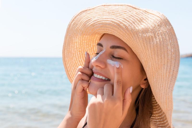 Woman Sun Beach Sunscreen Straw Hat