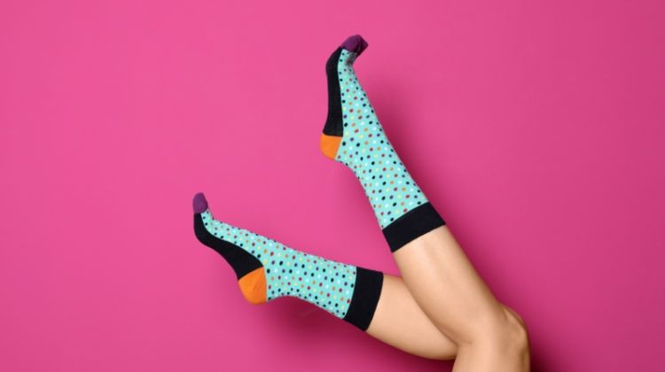 Woman's Legs Printed Colorful Socks